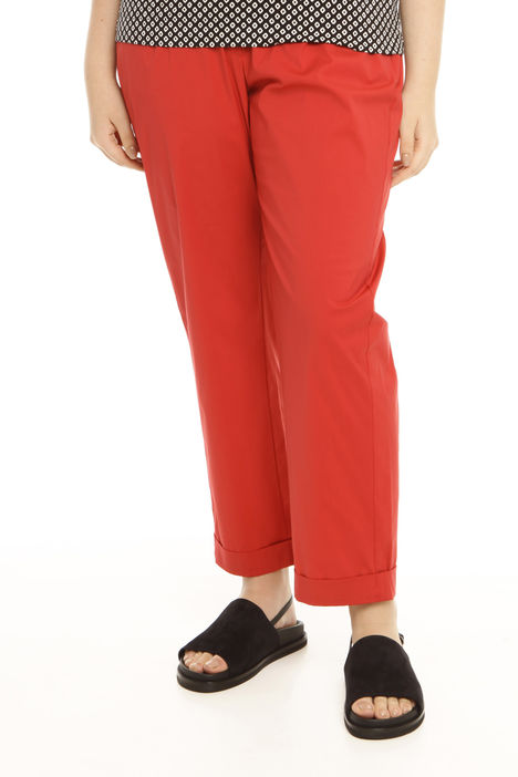 Pantalone in popeline stretch Intrend