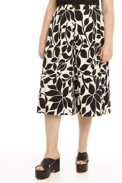 Pantalone cropped in jacquard Intrend