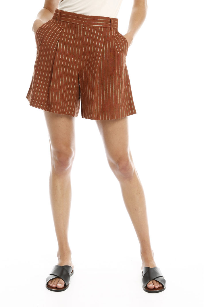 Shorts con motivo lurex Fashion Market