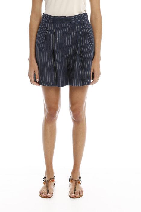 Shorts con motivo lurex Diffusione Tessile