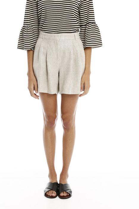 Pantaloni corti in lino lurex Diffusione Tessile