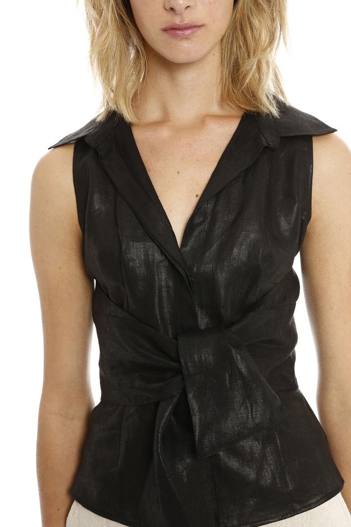 Camicetta lurex con fascia Fashion Market