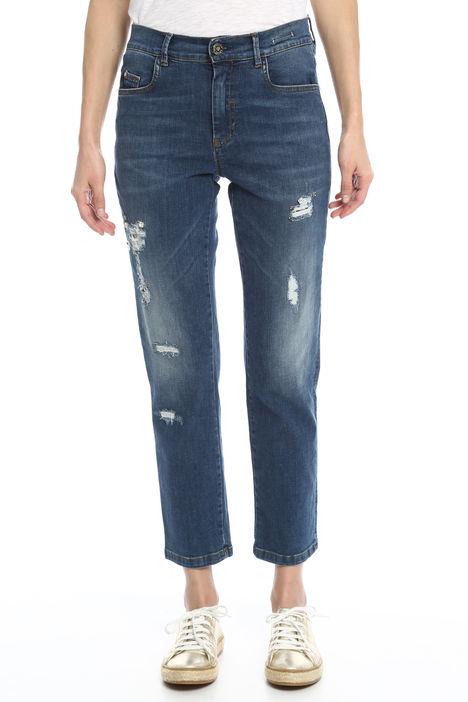 Jeans con applicazioni bijoux Diffusione Tessile