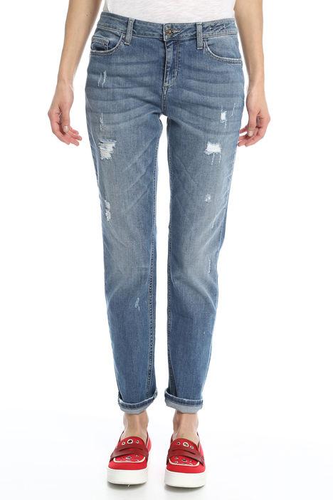 Jeans con risvolto e strappi Diffusione Tessile