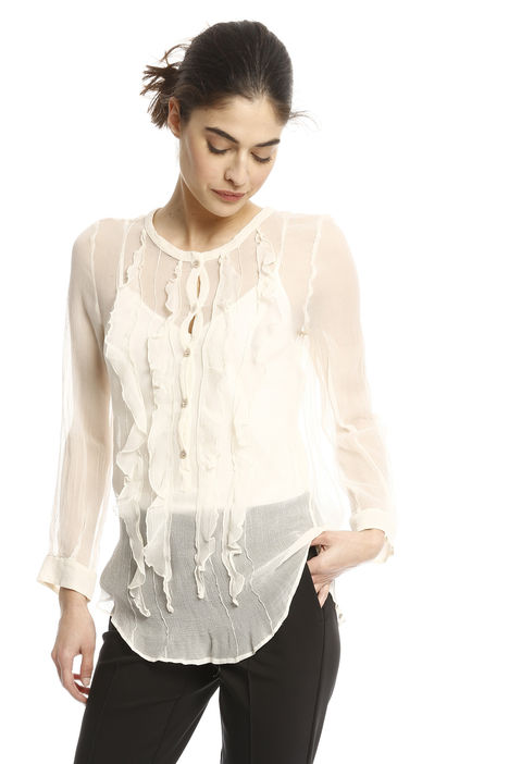 Camicia in creponne con ruches Intrend