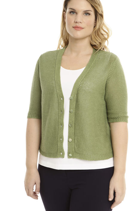 Cardigan boxy punto links Intrend