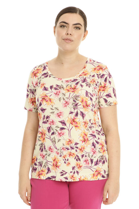 T-shirt  a fiori in jersey Intrend