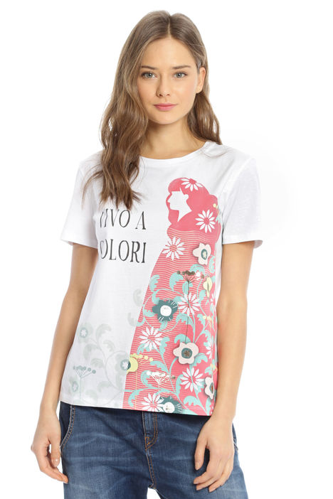 T-shirt con stampa fantasia Intrend
