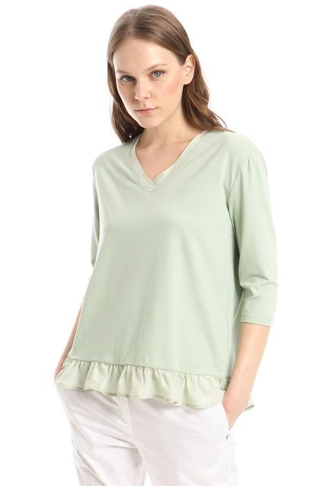 T-shirt con ruches in crepe Diffusione Tessile