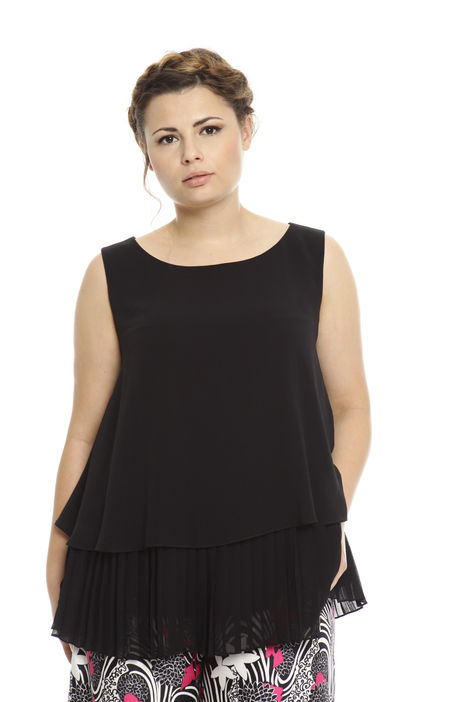 Top in georgette plissé Intrend