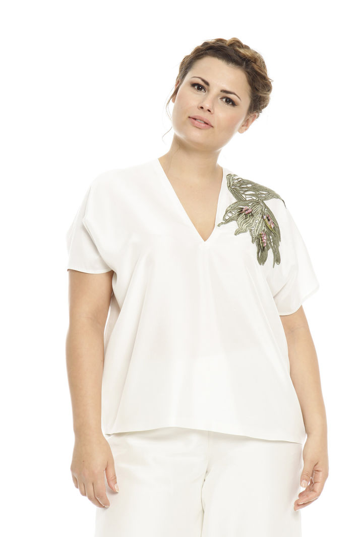 Blusa in seta fiammata Intrend