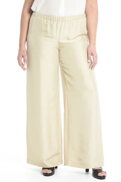Pantalone ampio in seta Diffusione Tessile