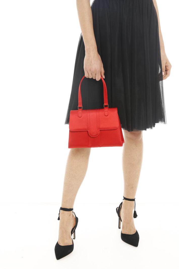 Piccola borsa in raso, rosso