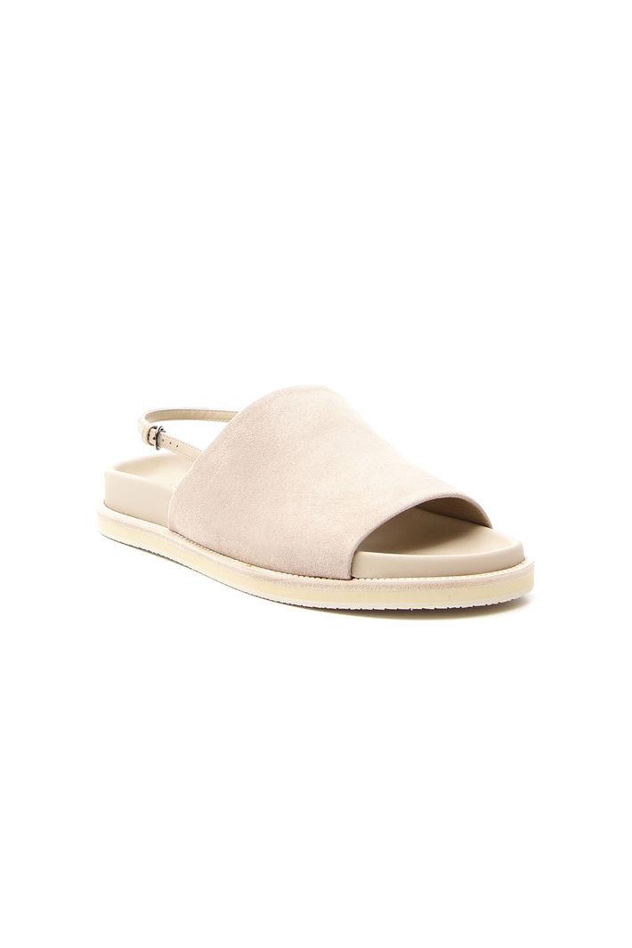 Sandalo basso suede, sabbia