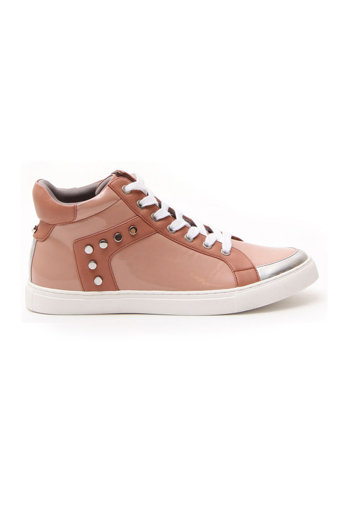 Sneakers in vernice, rosa antico
