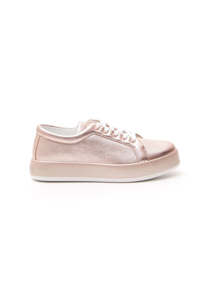Sneakers laminate, oro rosa