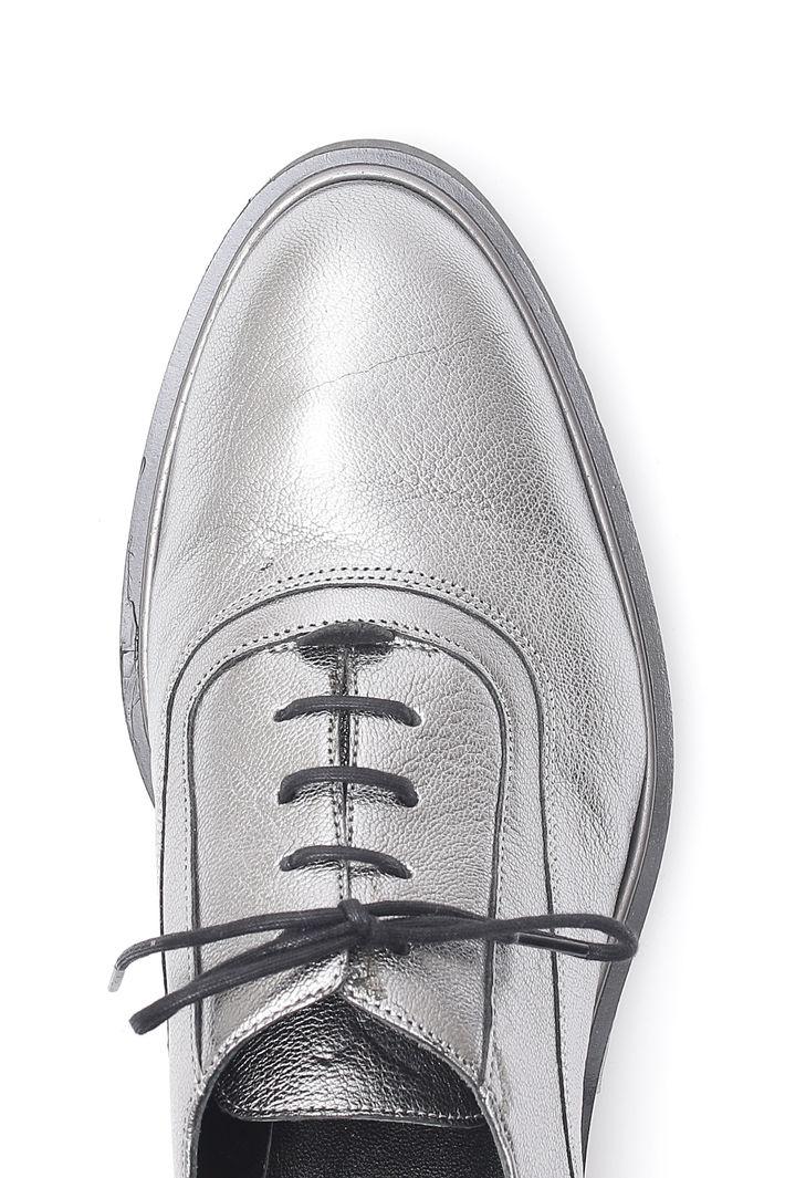 Scarpe Oxford laminate, argento