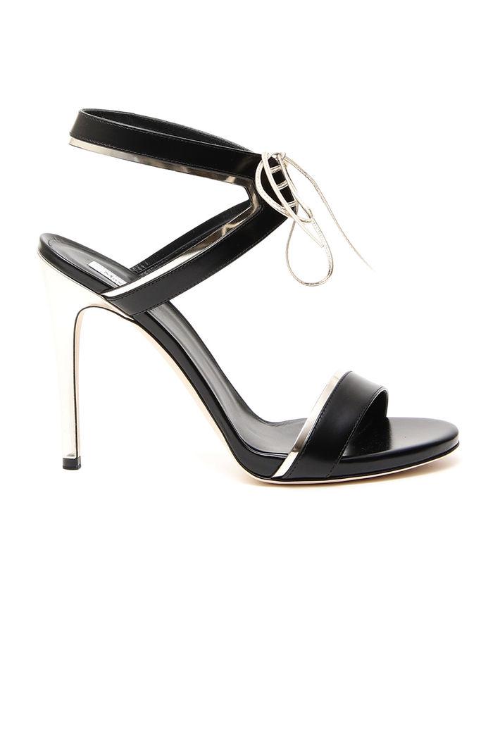 Sandali con lacci, nero