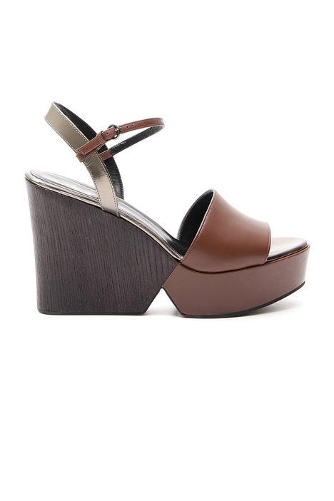 Sandalo in pelle liscia Diffusione Tessile