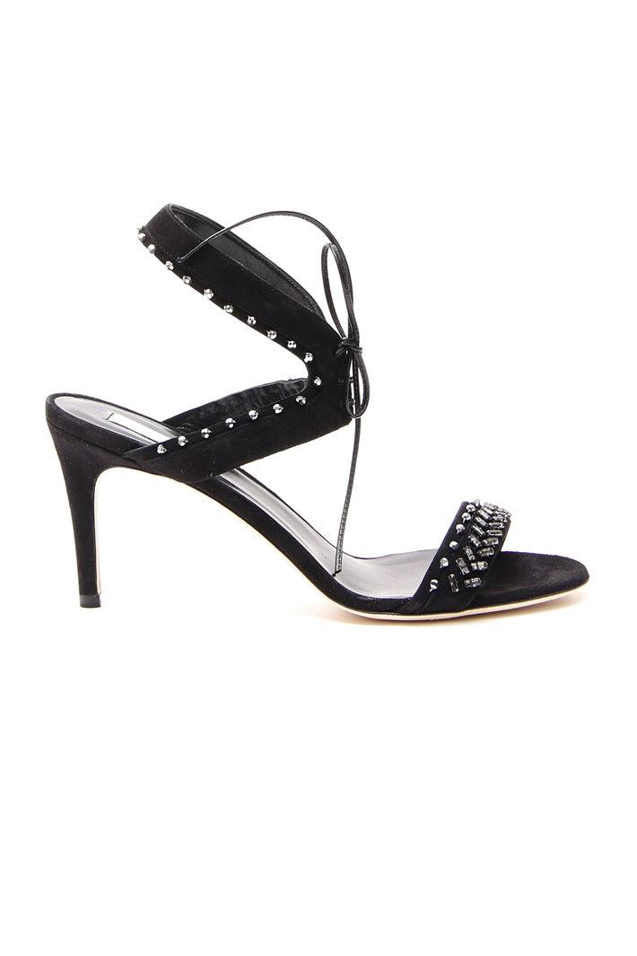 Sandali con strass, nero