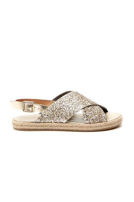 Sandalo basso glitterato Diffusione Tessile