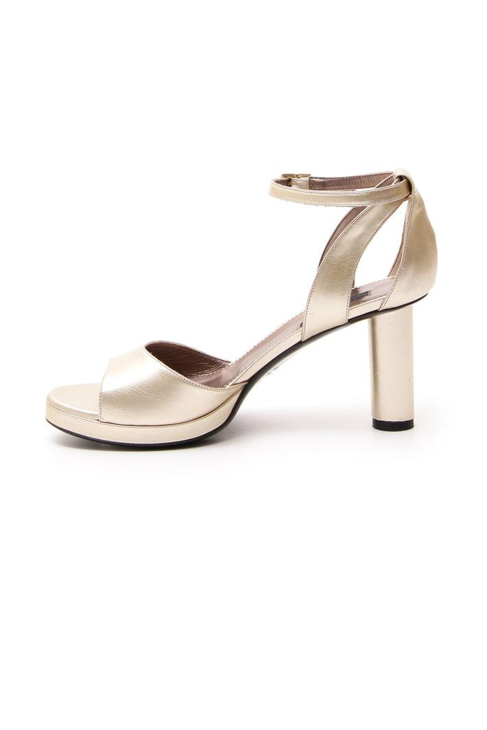 Sandalo Con Tacco A Isola Oro