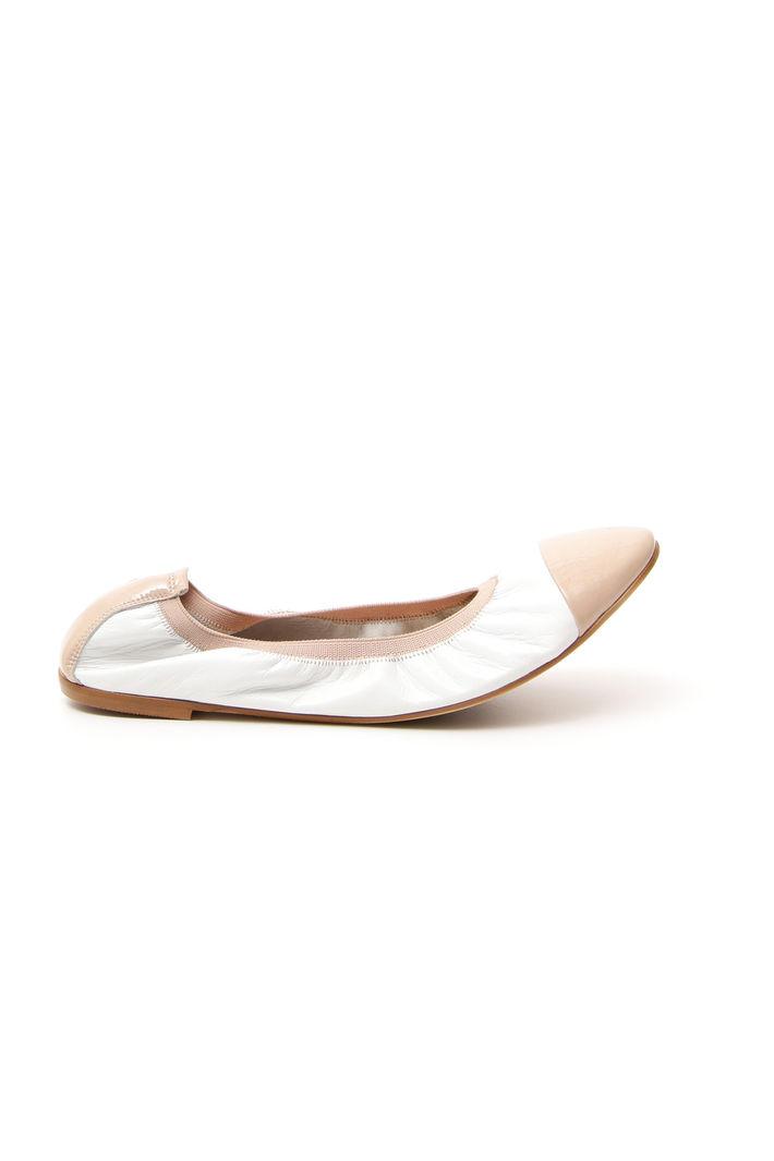 Ballerina con elastico, bianco nude