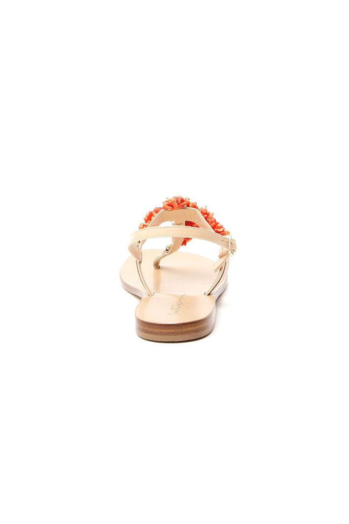 Sandali con coralli a decoro Fashion Market