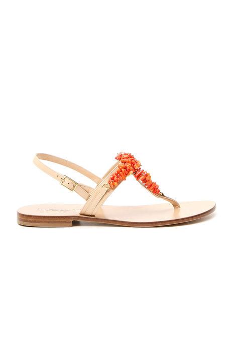 Sandali con coralli a decoro Intrend