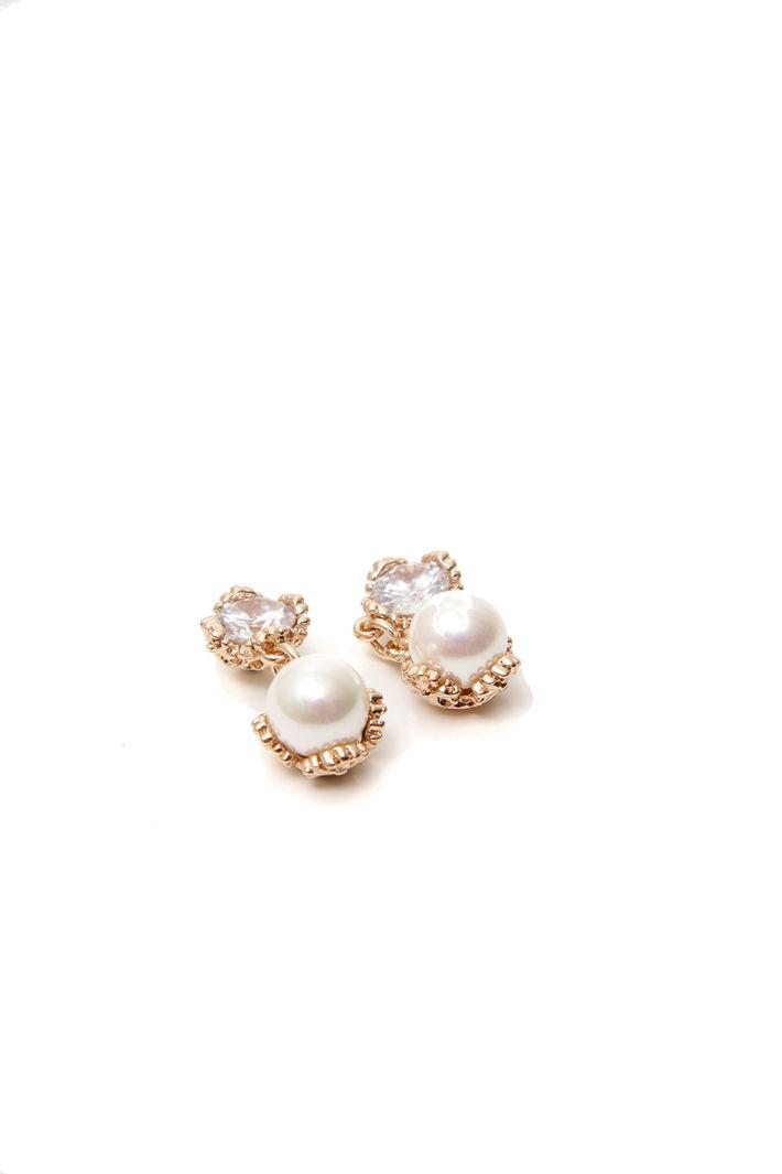 Orecchini con strass e perle Fashion Market
