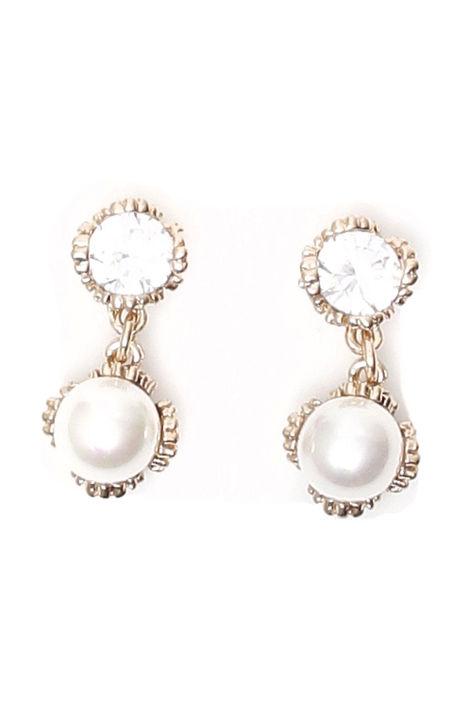 Orecchini con strass e perle Diffusione Tessile