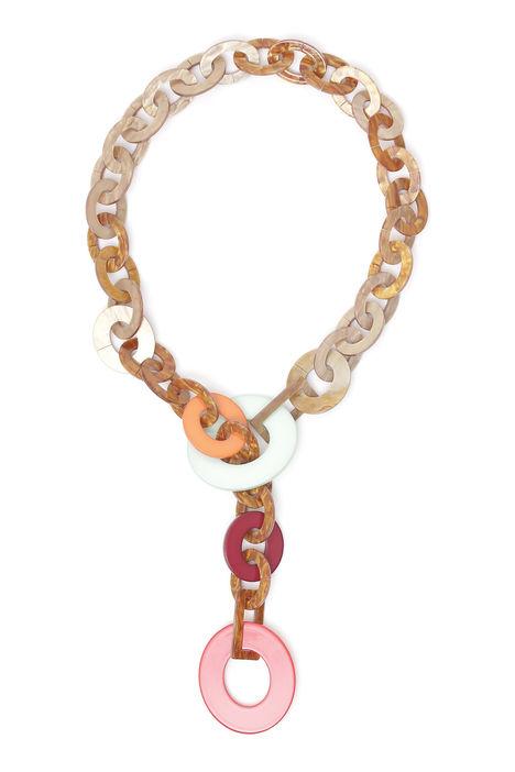 Collana multicolor con dischi Diffusione Tessile