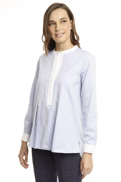 Camicia con pieghe sul fondo Diffusione Tessile