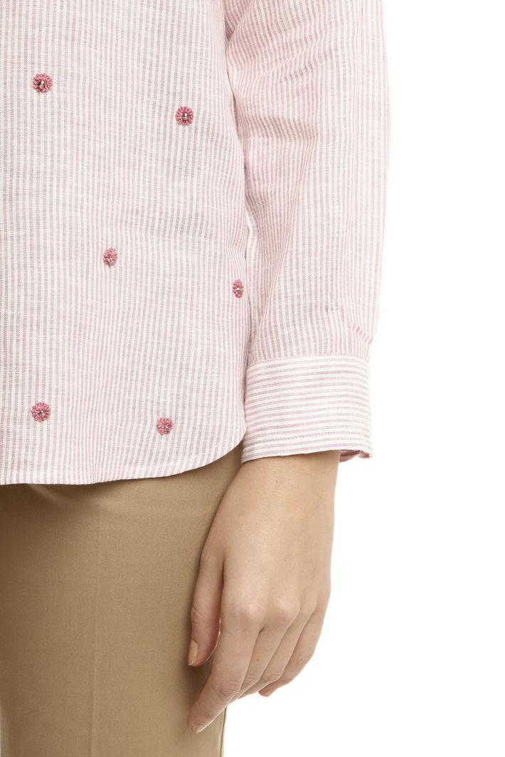 Camicia in lino tinto filo Intrend