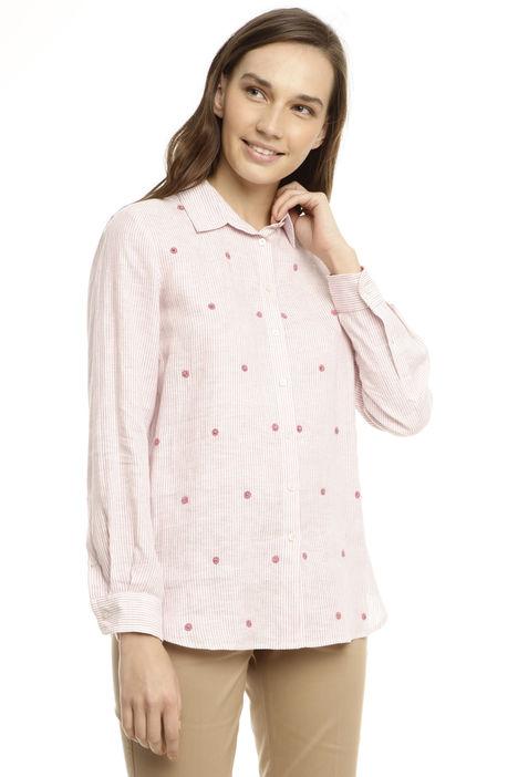 Camicia in lino tinto filo Diffusione Tessile