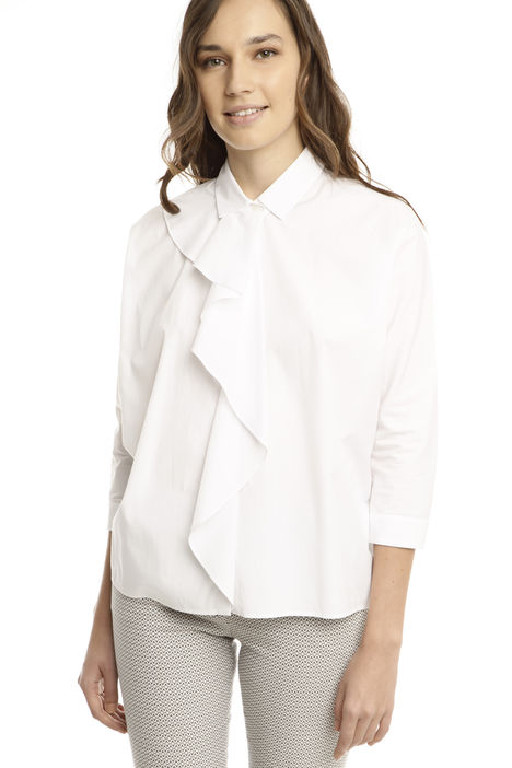 Camicia con maxi volant Diffusione Tessile