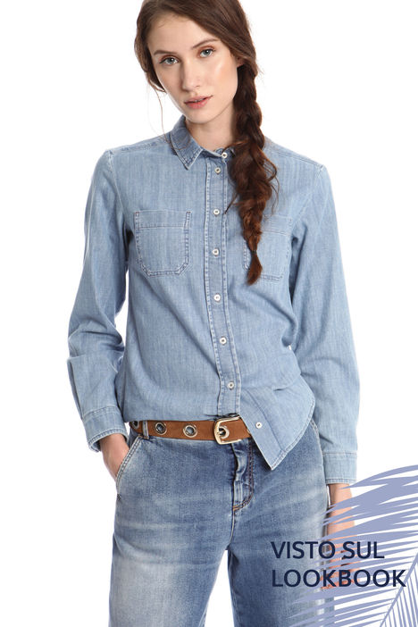 Camicia in denim di cotone Intrend