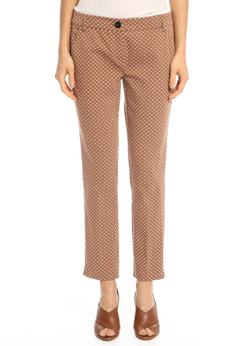 Pantaloni fantasia in raso Diffusione Tessile