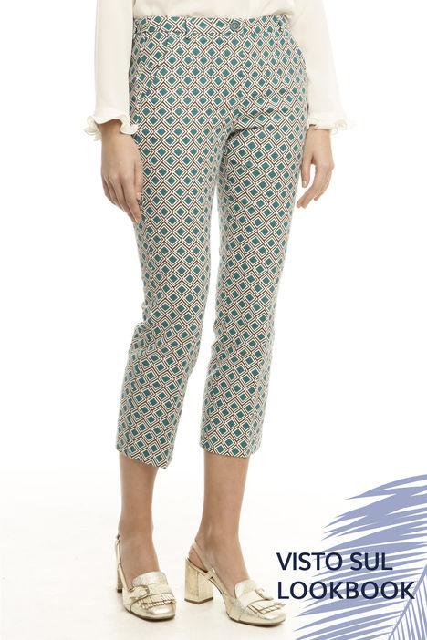 Pantalone capri con fantasia Diffusione Tessile