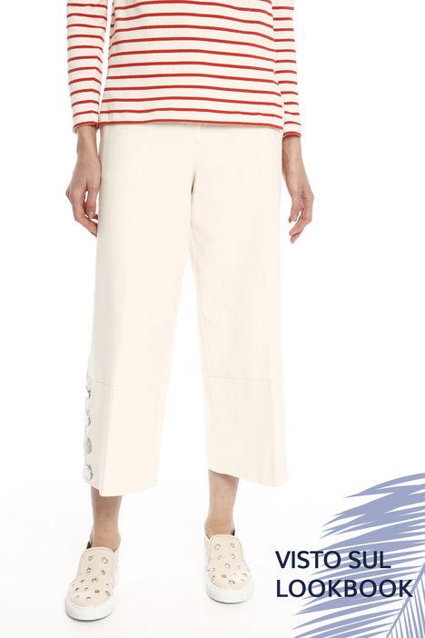 Pantalone con maxi bottoni Diffusione Tessile