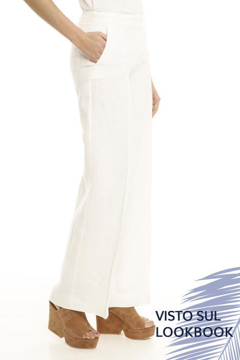 Pantalone dritto in puro lino Diffusione Tessile