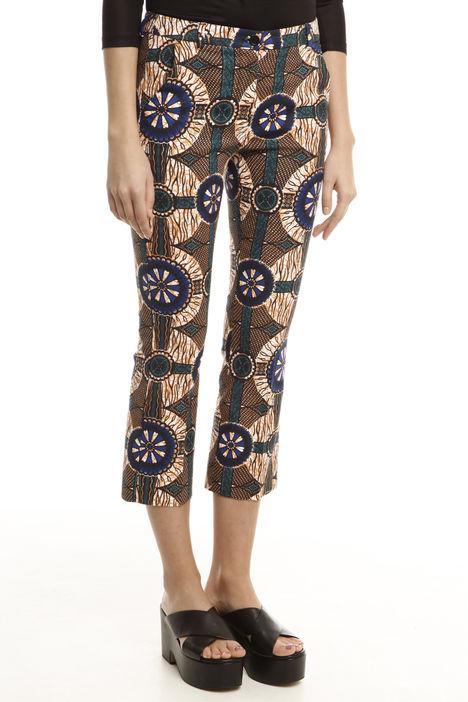 Pantaloni capri disegno etnico Diffusione Tessile