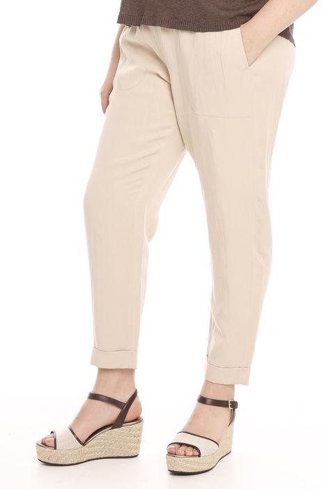 Pantalone con tasche in lino Intrend