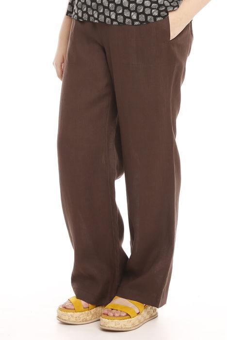 Pantaloni larghi in lino Intrend