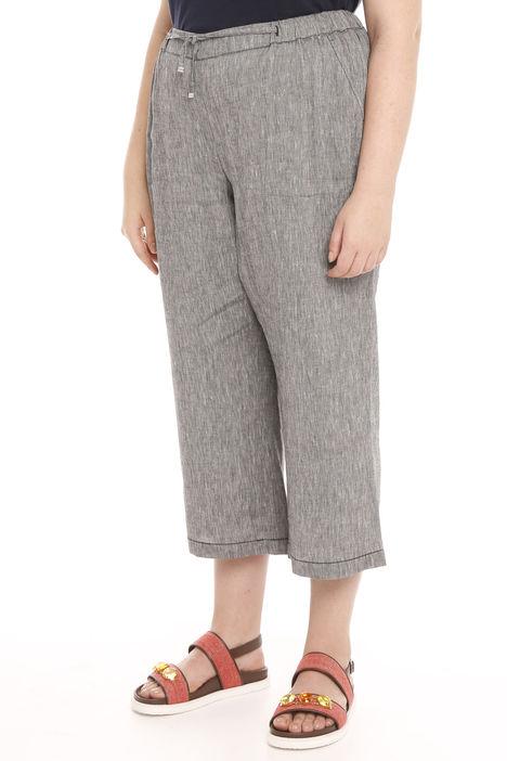 Pantalone cropped misto lino Intrend
