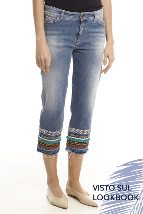Jeans con passamaneria Intrend