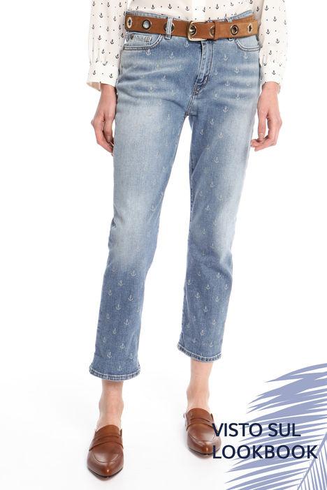 Jeans con motivo stampato Diffusione Tessile