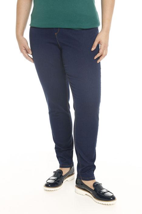 Pantaloni stretch in denim Intrend