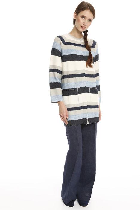 Capospalla in maglia a righe Diffusione Tessile