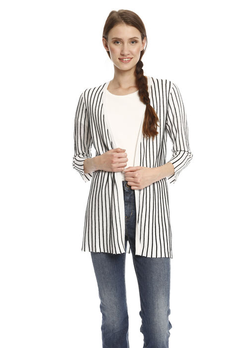 Cardigan in seta misto lino Intrend